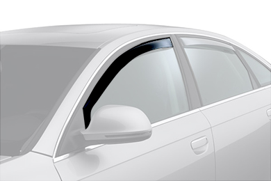 weathertech window deflector dark smoke car front
