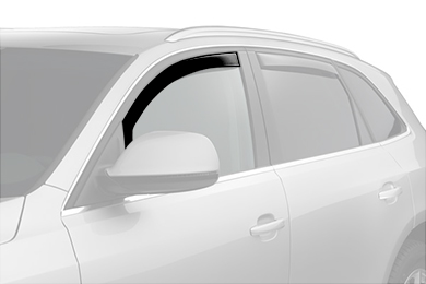 weathertech window deflector dark smoke suv front