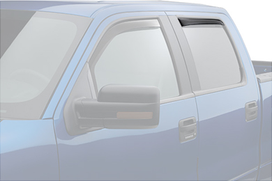 weathertech window deflector dark smoke truck rear