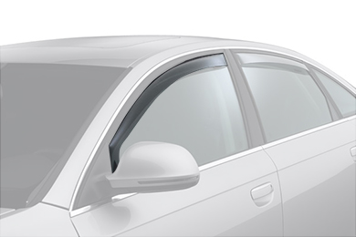 weathertech window deflector light smoke car front