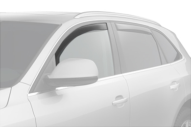 weathertech window deflector light smoke suv front