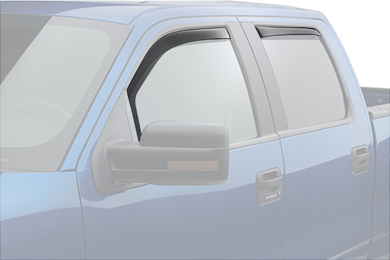 weathertech window deflector light smoke truck front rear