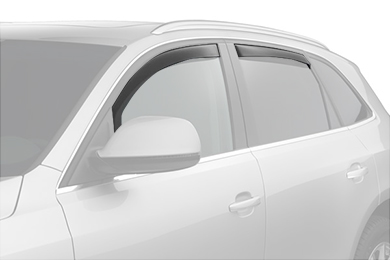 weathertech window deflector suv light smoke front rear