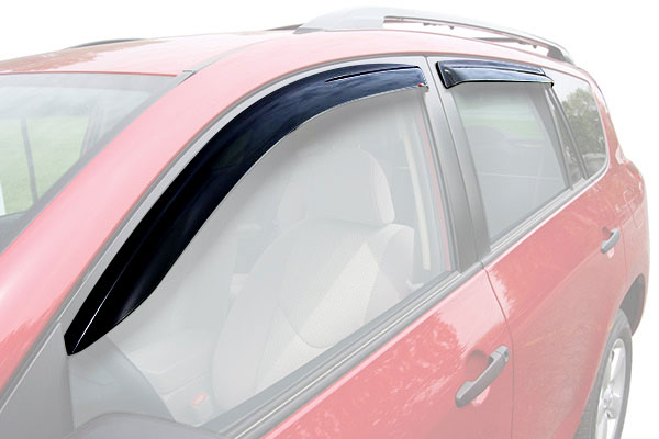 westin slim line window deflector car front rear