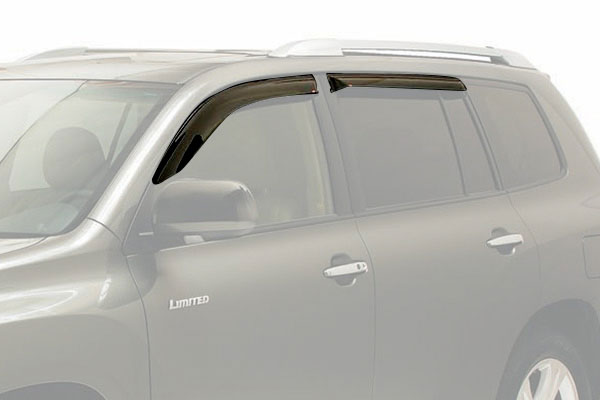 westin slim line window deflector suv front rear