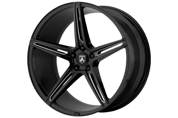 Image of Asanti Black 022 Wheels in Gloss Black Milled