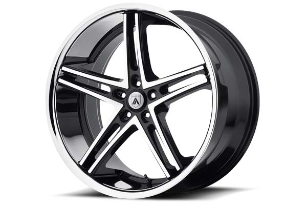 Image of Asanti Black 007 Wheels in Machined Face with SS Lip