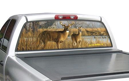 Graphics For Red Deer Rear Window Graphics Wwwgraphicsbuzzcom - Rear window hunting decals for trucks