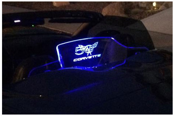 windrestrictor glow plate 50th flags blue sample