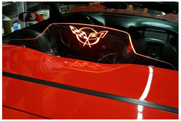 windrestrictor glow plate c5 flags red sample