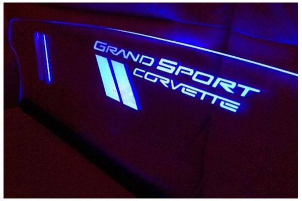 windrestrictor glow plate c6 grand sport sample