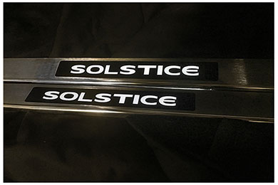 windrestrictor solsticeDS door sill silver white sample