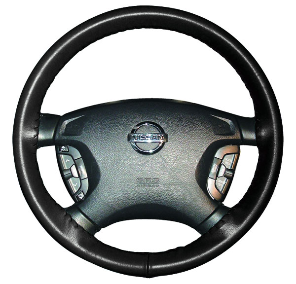 Steering Wheel Cover Genuine Black-Grey Leather Fitted Glove For Mini