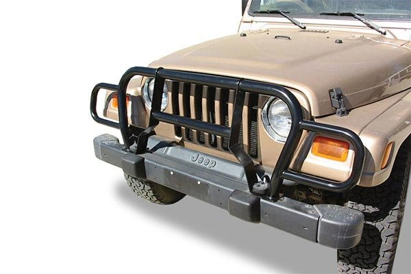 rampage jeep euro grille guards black
