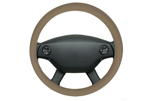 motor trend perforated leatherette steering wheel cover